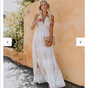Vici White lace dress